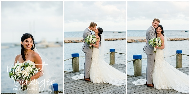 Wychmere Beach Club Cape Cod Wedding bride and groom portraits