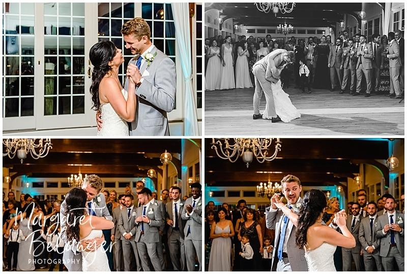 Bride and groom's first dance, Wychmere Beach Club Cape Cod Wedding reception