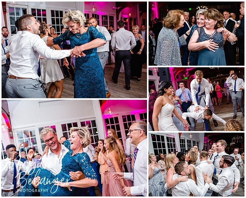 Guests dancing at a Wychmere Beach Club wedding reception
