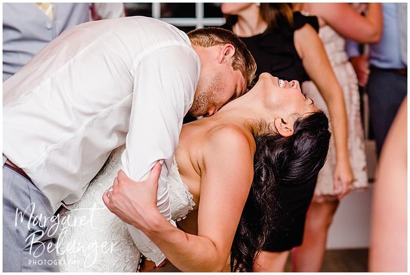 Bride and groom dancing at their Wychmere Beach Club wedding reception