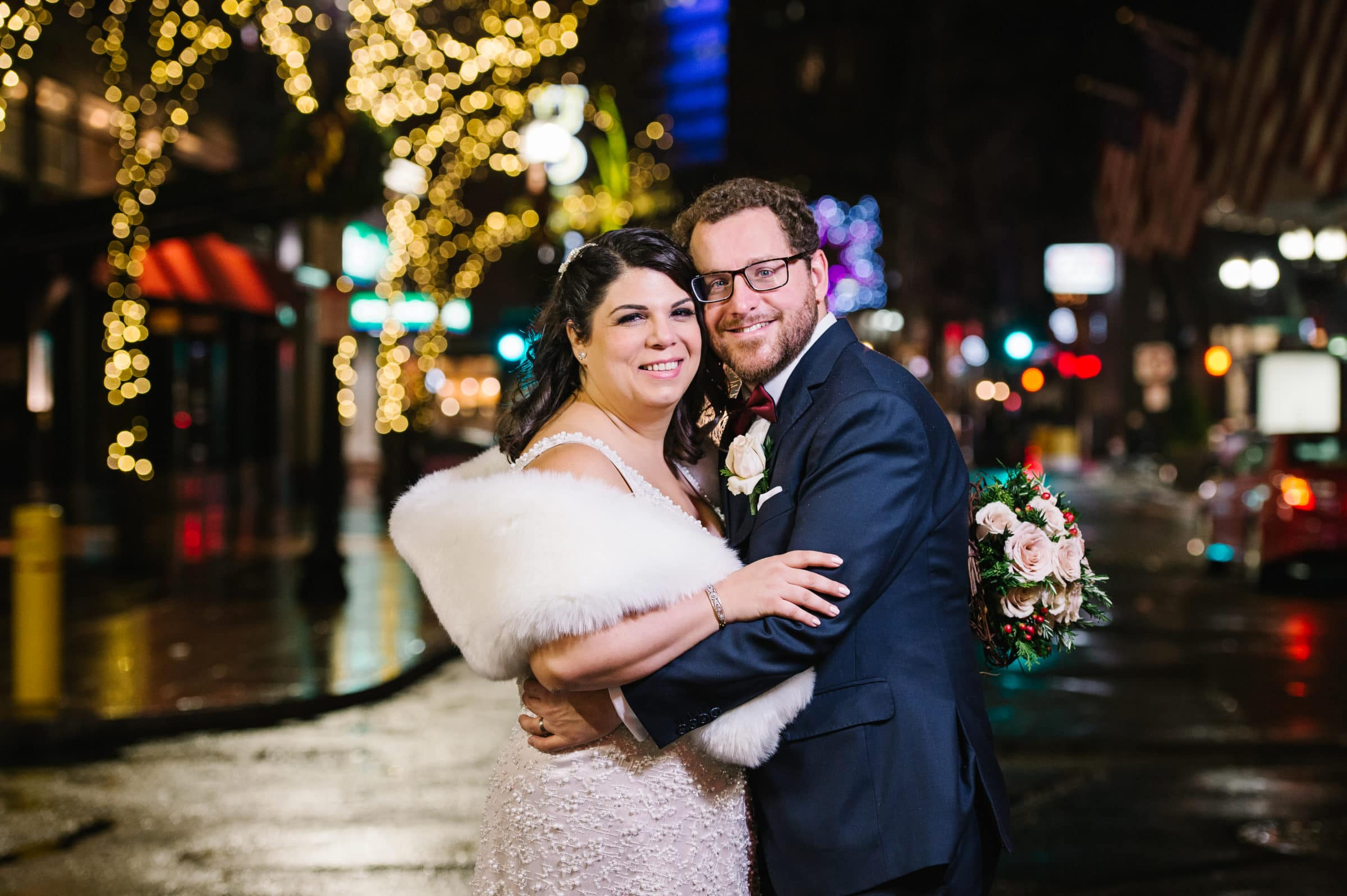 Downtown Crossing Boston winter wedding