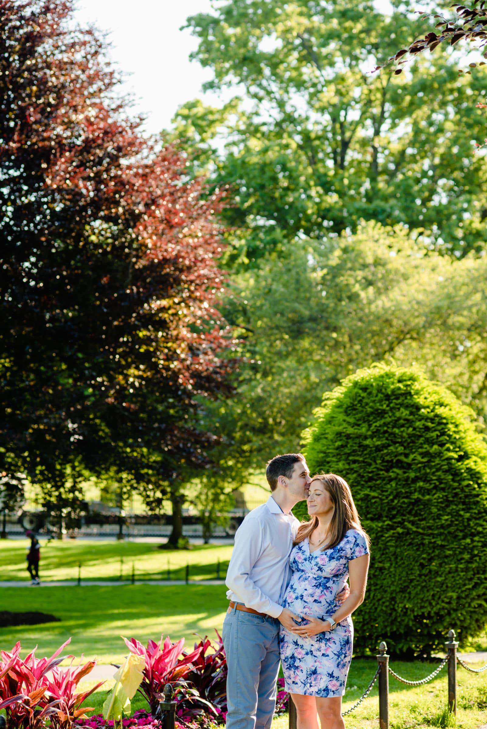 Boston Public Garden maternity session