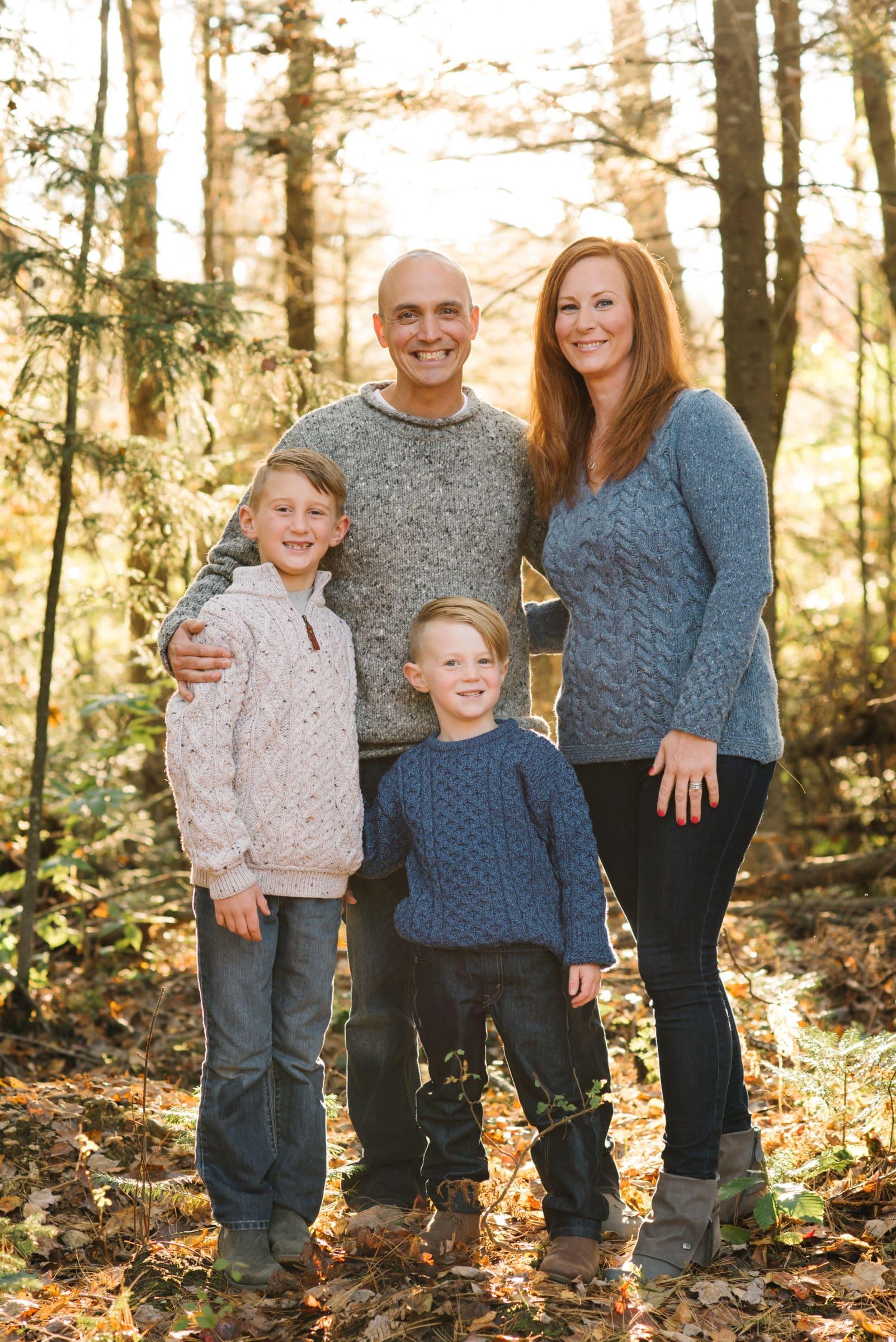 Gardner family session, family portrait