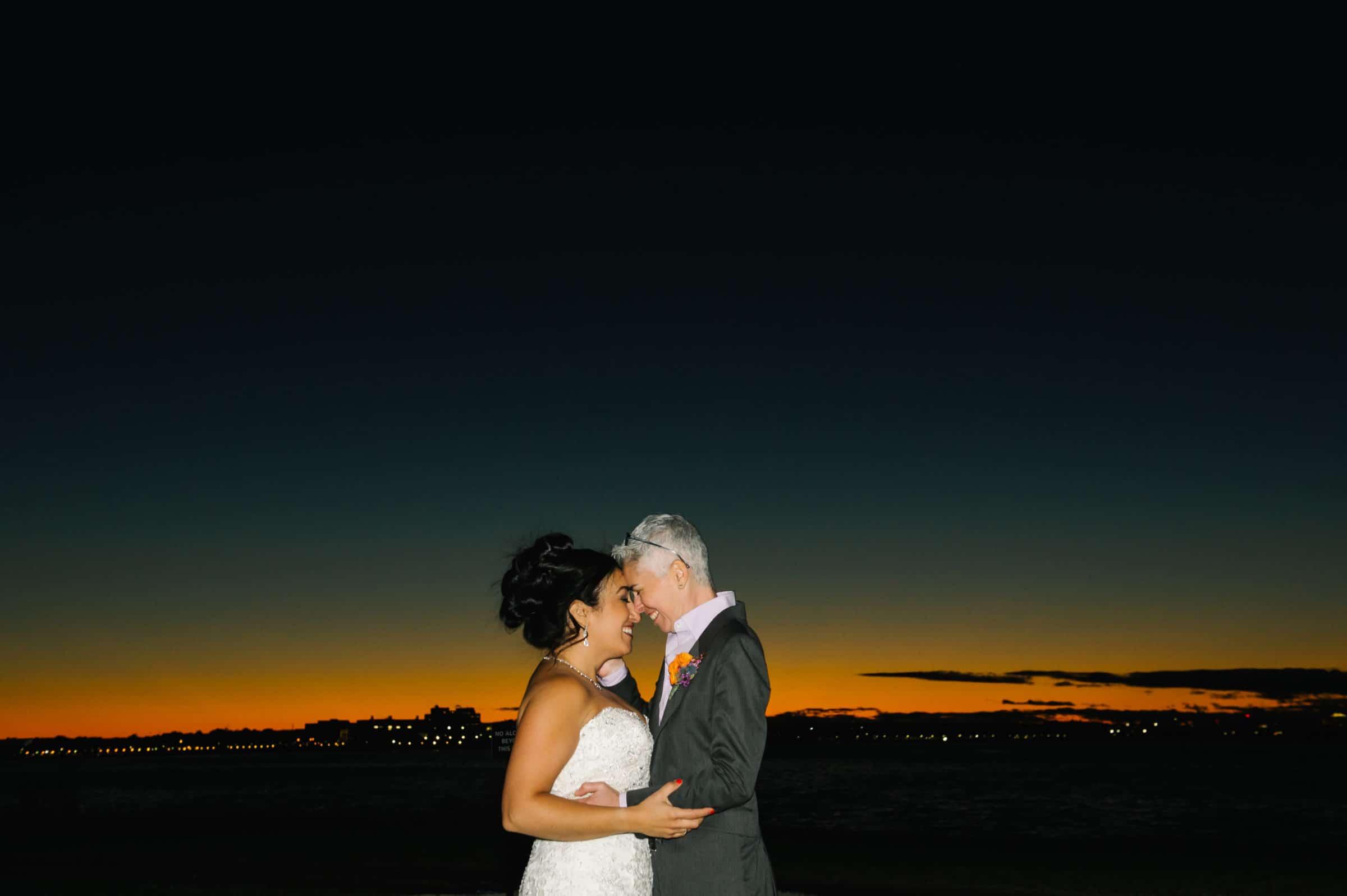 Thompson Island same sex wedding, Boston