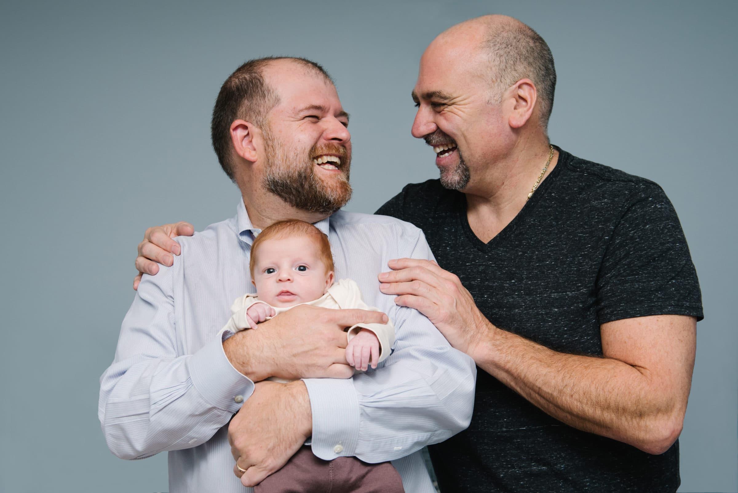 Winchester newborn session, same sex family