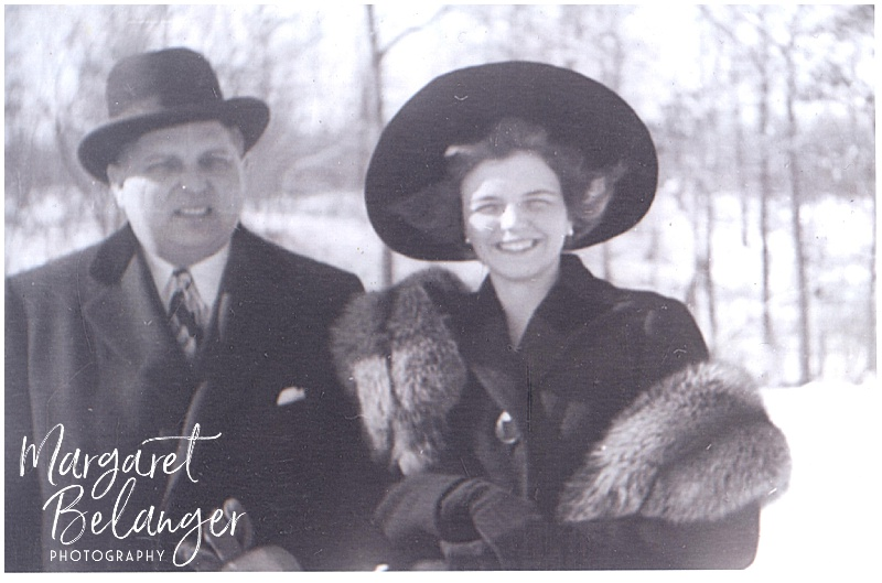 Scanned Old Photo of Grandmother and Grandfather